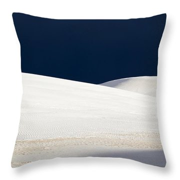 White Sands Dark Sky Throw Pillow
