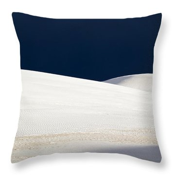 Throw Pillow featuring the photograph White Sands Dark Sky by Mary Lee Dereske