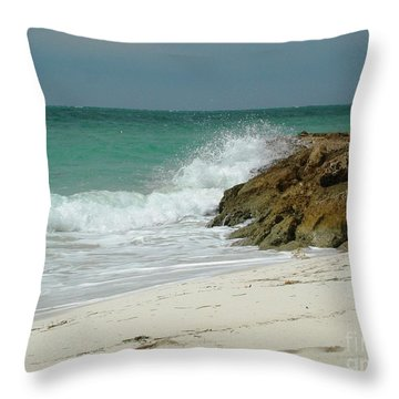 White Sands Throw Pillow by Judy Palkimas
