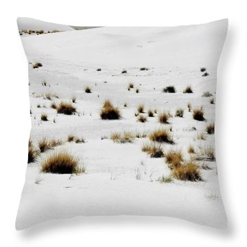 White Sands Life Throw Pillow