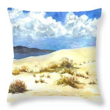 White Sands New Mexico U S A Throw Pillow by Carol Wisniewski