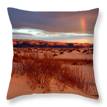 Throw Pillow featuring the photograph White Sands Sunset by Christopher McKenzie