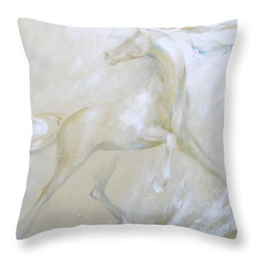White Sands Triptych Throw Pillow
