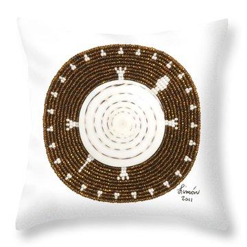 White Shell Throw Pillow