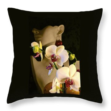 Throw Pillow featuring the photograph White Shoulders by Elf Evans