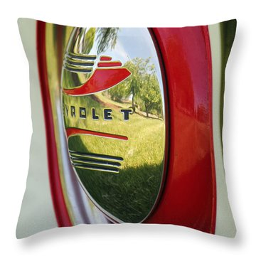 White Sidewalls On Chevy Throw Pillow