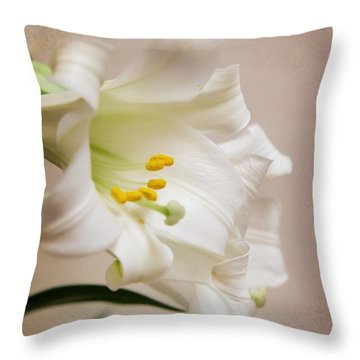 White Softness Throw Pillow
