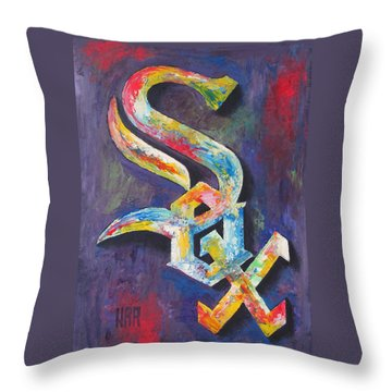 Chicago White Sox Baseball Throw Pillow by Dan Haraga