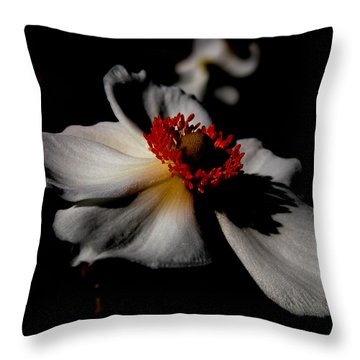 White Spring Throw Pillow