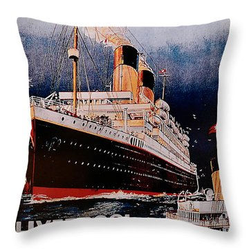 White Star Line Poster 1 Throw Pillow