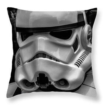 White Stormtrooper Throw Pillow by David Doyle
