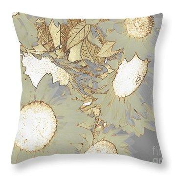 White Swan Throw Pillow by France Laliberte