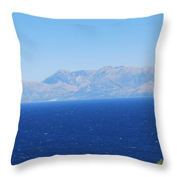 Throw Pillow featuring the photograph White Trail by George Katechis