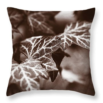 White Veins Throw Pillow