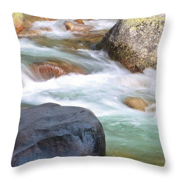 White Water Throw Pillow by Heidi Smith