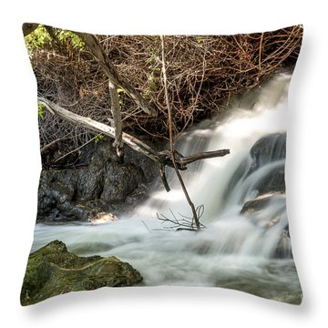 Throw Pillow featuring the photograph White Water Waterfalls 08 by Arik Baltinester