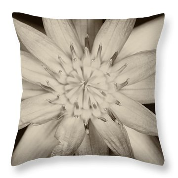Lotus Throw Pillow by Ulrich Schade