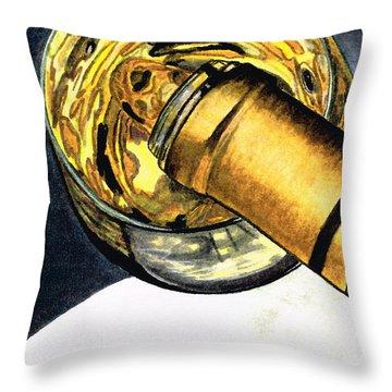 White Wine Art - Lap Of Luxury - By Sharon Cummings Throw Pillow