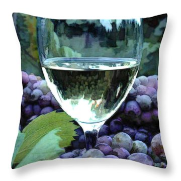 White Wine Reflections Throw Pillow by Elaine Plesser