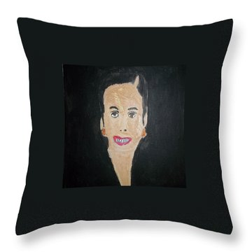 White Woman In The 50's Throw Pillow by William Sahir House