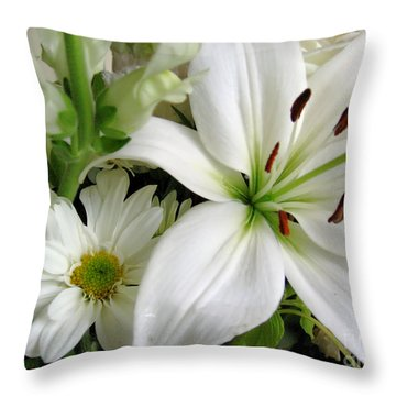 White Wonder Throw Pillow by Rory Sagner