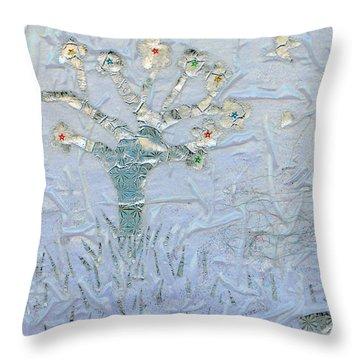 White World Throw Pillow by Augusta Stylianou