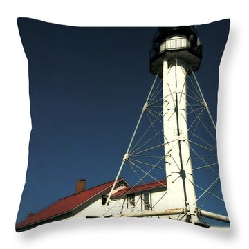 Whitefish Point Light Station Throw Pillow by Michelle Calkins