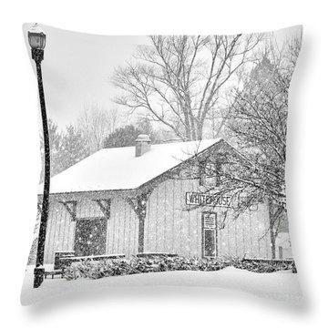 Whitehouse Train Station Throw Pillow