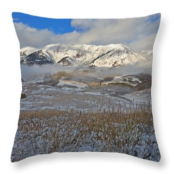 Whiterock Winter Mist Throw Pillow