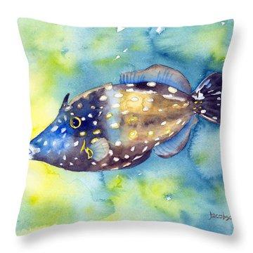 Whitespot Filefish Throw Pillow