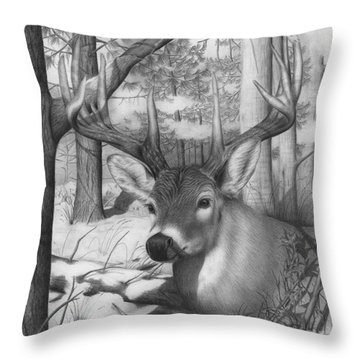 Whitetail Phantom Throw Pillow
