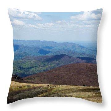Whitetop Mountain Virginia Throw Pillow by Laurinda Bowling