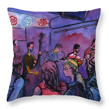Whitewater Ramble At The Barkley Throw Pillow by David Sockrider