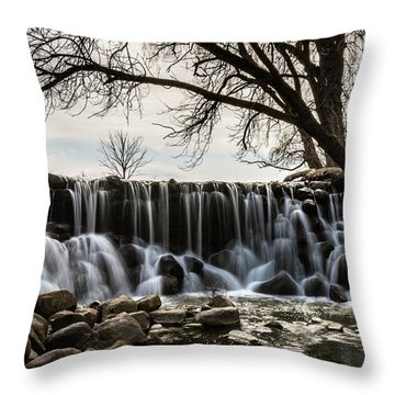 Whitnall Waterfall In Spring Throw Pillow