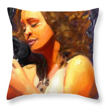 Whitney Gone Too Soon Throw Pillow by Vannetta Ferguson