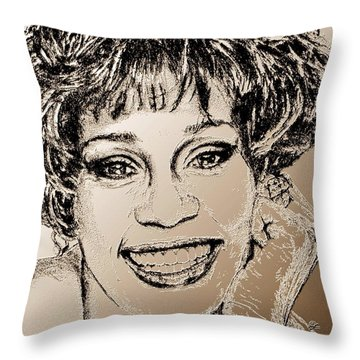 Whitney Houston In 1992 Throw Pillow by J McCombie