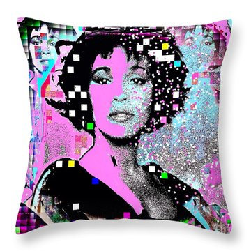 Whitney Houston Sing For Me Again 2 Throw Pillow