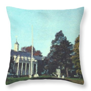 Whittle Hall Throw Pillow by Bruce Nutting