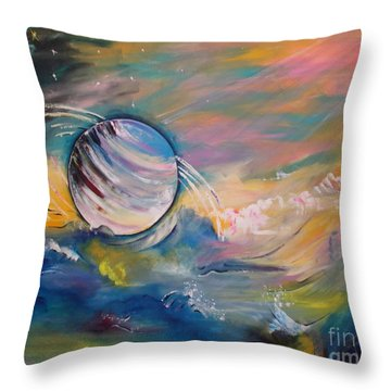 Who But You Could Leave A Trail Of Galaxies Throw Pillow by PainterArtist FIN