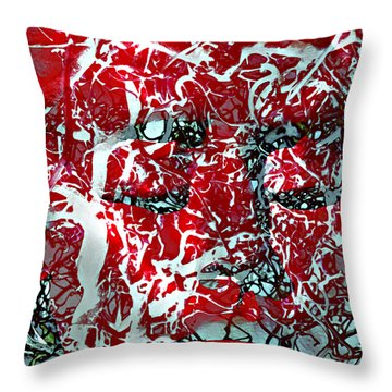 Who Can Fathom Her Throw Pillow by Angelina Vick