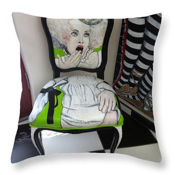 Who Chairs Throw Pillow by Darlene Graeser