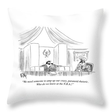 Who Do We Know At The Nra Throw Pillow