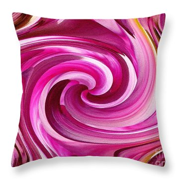 Who Dun It Twirls Throw Pillow