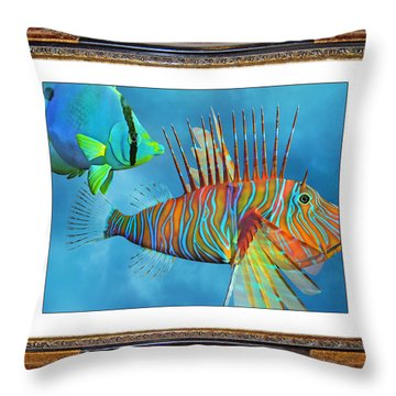 Who Framed The Fishes Throw Pillow