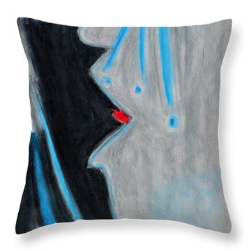 Who Helps Those Who Cry In Silence Throw Pillow by Donna Blackhall