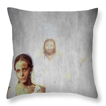 Throw Pillow featuring the photograph Who Is With Me by Lisa Piper