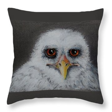 Who? Throw Pillow by Jean Cormier