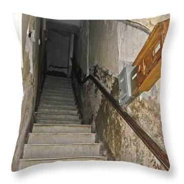 Throw Pillow featuring the photograph Who Lives Here? by Allen Sheffield