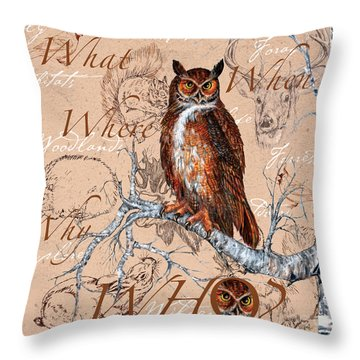 Who Owl Throw Pillow
