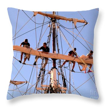 Who Was That Mast Man Throw Pillow